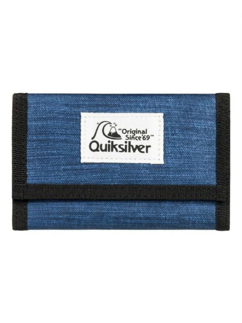 QUIKSILVER MENS WALLET.EVERYDAILY BLUE TRIFOLD MONEY NOTE COIN CARD PURSE 9W BY
